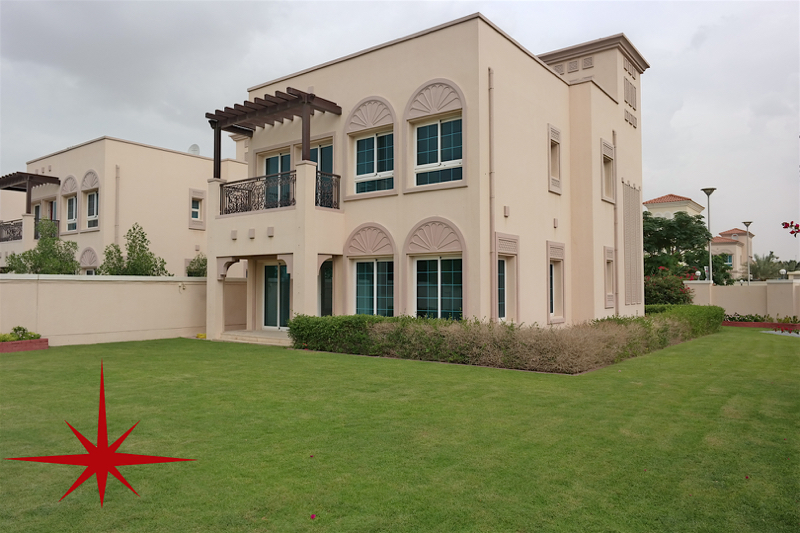 JVT, 2 Bedrooms Classic Arabian Style Villa with Maids Room
