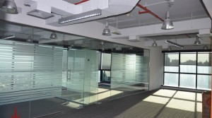 Fully fitted offices with glass partition for lease